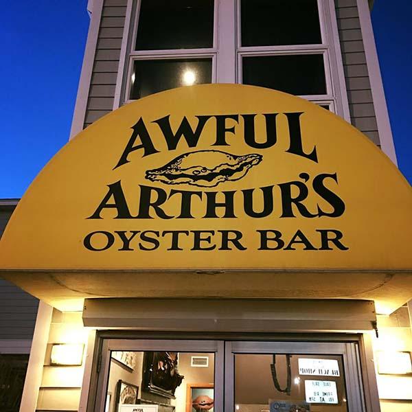 awful arthur's oyster bar exterior awning