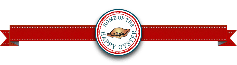 """red banner with awful arthurs sub logo saying """"home of the happy oyster"""""""