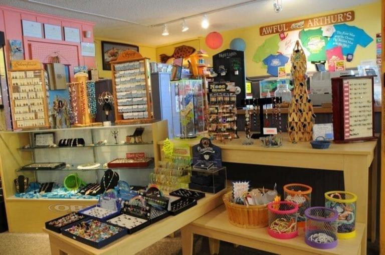 awful arthur's beach shop interior