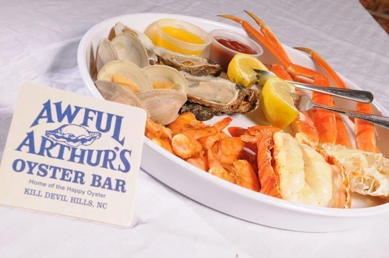 awful arthur's platter seafood