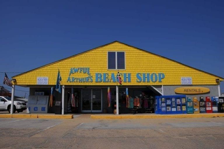 awful arthur's beach shop exterior